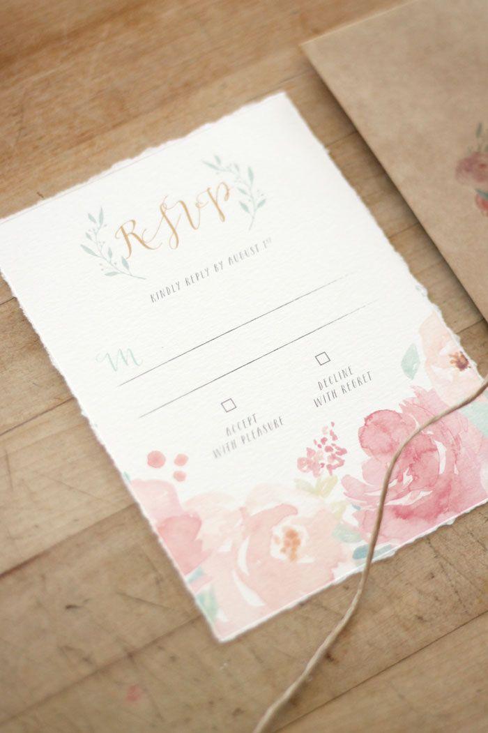Just My Type Wedding Invitation And Wedding Stationery Design Nz Spring Floral Watercolour Pretty Pastel Peonies Rsvp Blush Wedding Invitations Photo Wedding Invitations Pastel Wedding Invitations