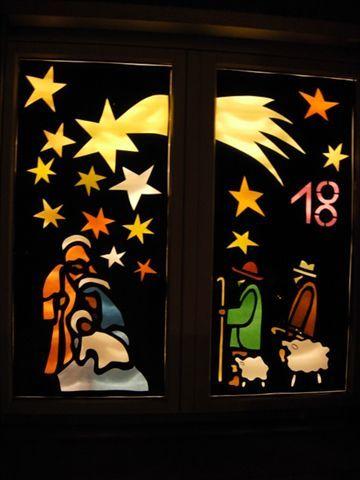 bildergebnis f r adventsfenster weihnachtsfenster. Black Bedroom Furniture Sets. Home Design Ideas