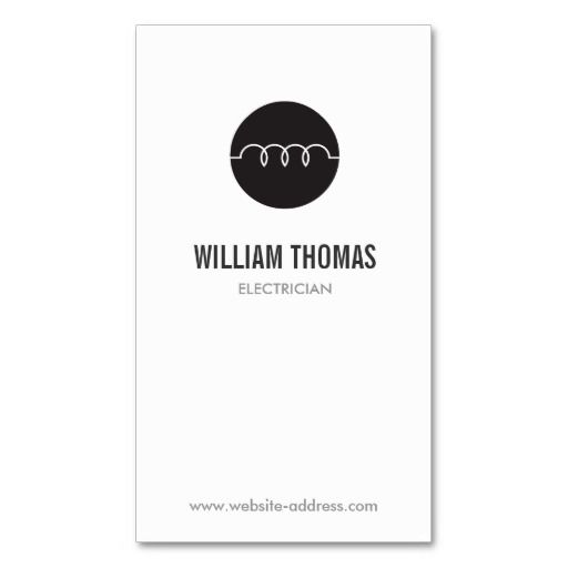 Modern electrician logo business card template modern electrician logo business card template reheart Choice Image