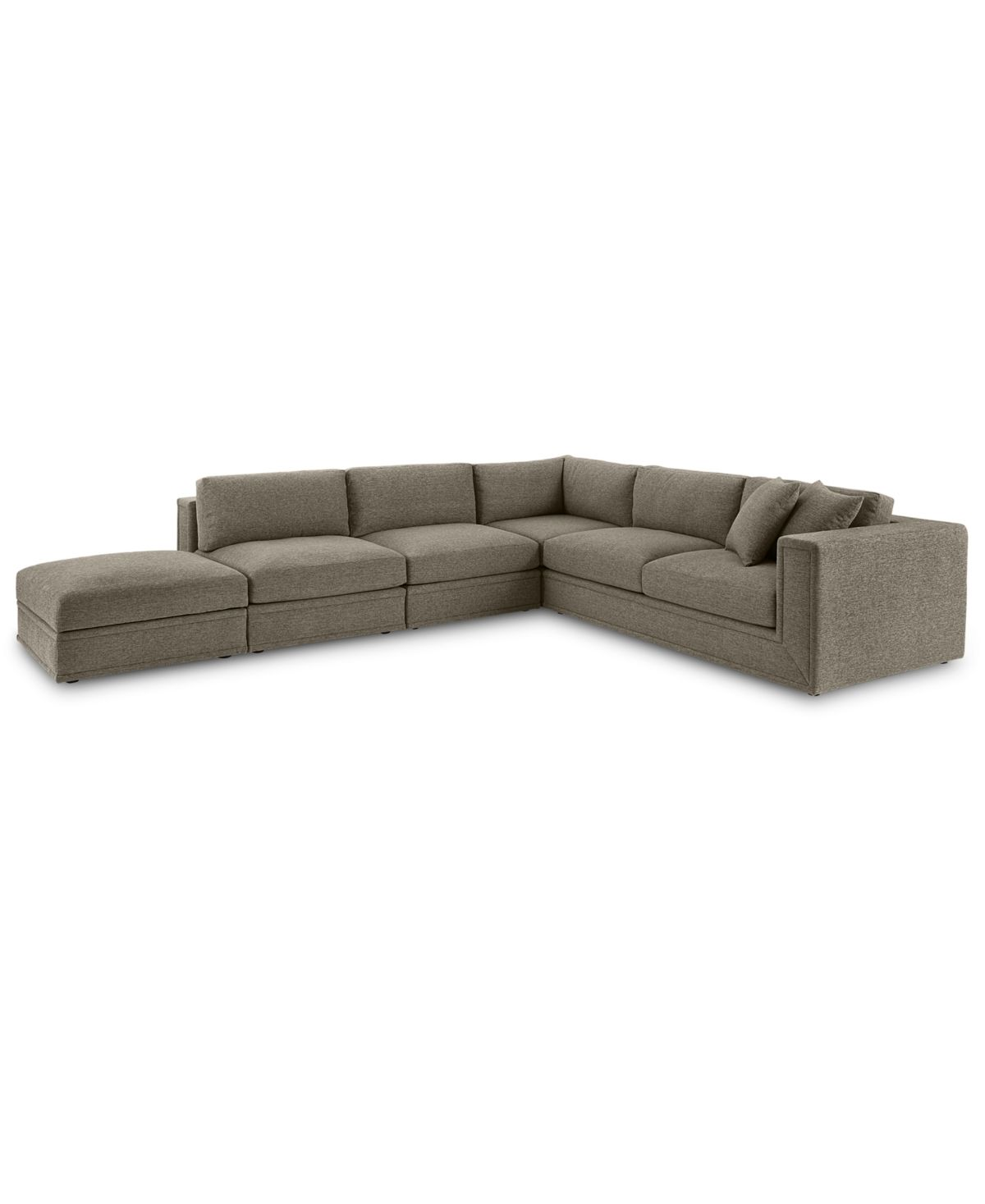 Closeout Dulovo 5 Pc Fabric Sectional Sofa Created For Macy S