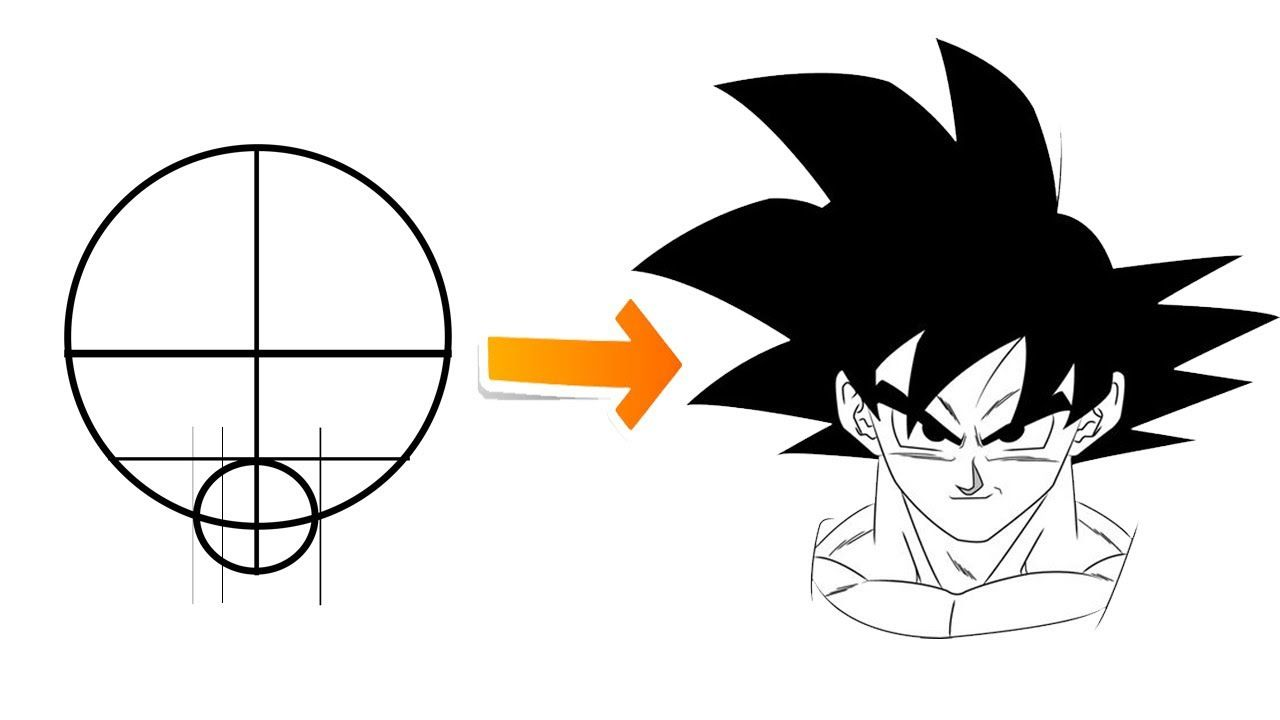5 Easy Steps To Draw Goku For Beginners Drawing Tutorial Drawing Tutorials For Beginners Drawing For Beginners Goku Drawing