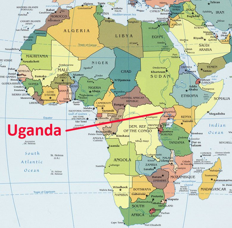Where Is Uganda On A Map Of Africa Pin on Things We Love
