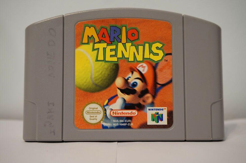 Detalles De Mario Tennis 64 Nintendo 64 N64 Juego Original Nei Eur