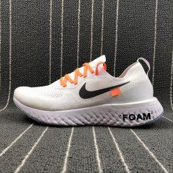 9ddd59741bbc8 OFF WHITE X Nike Epic React Flyknit Men s Women s Running Shoes White