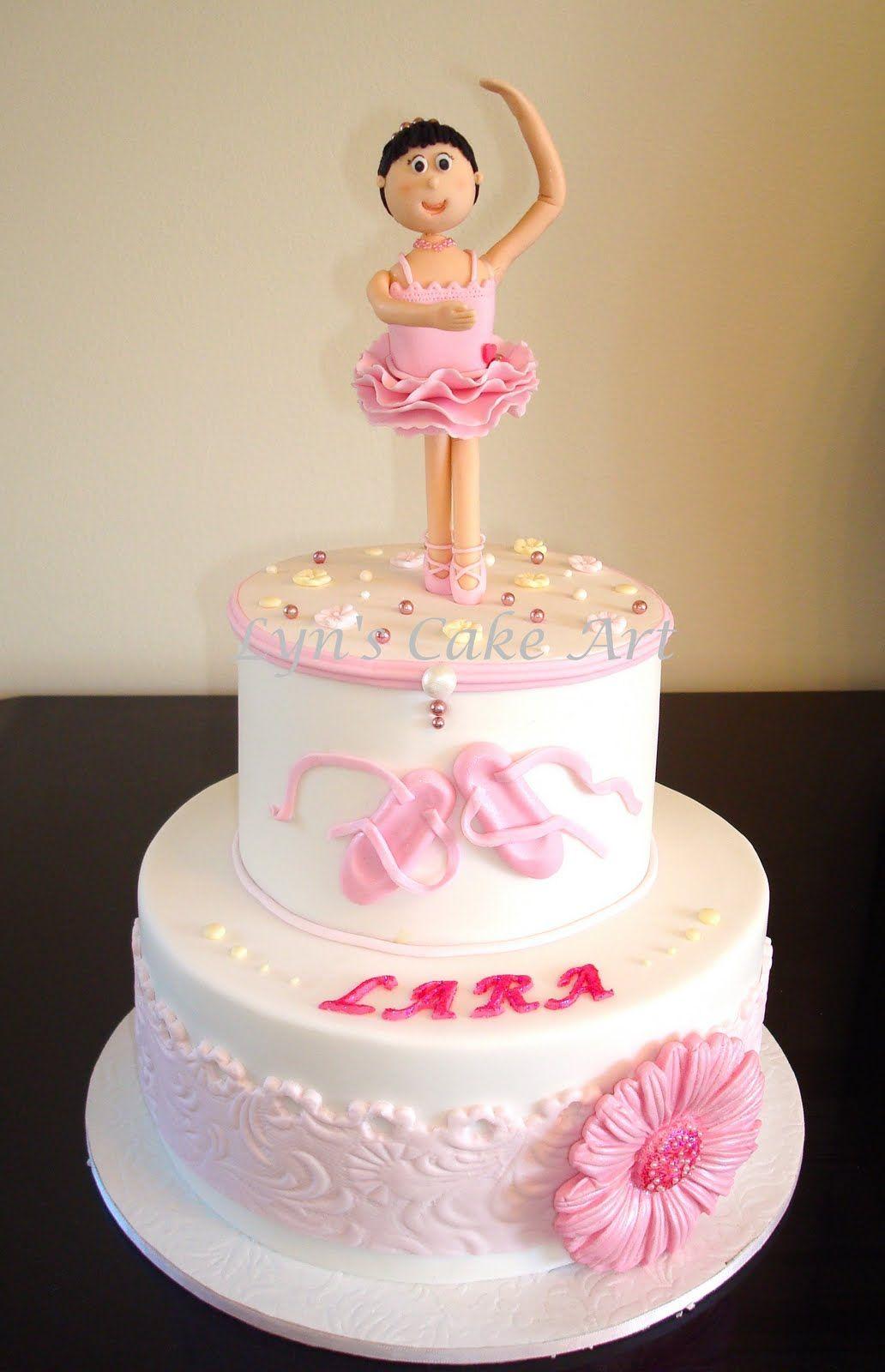 Cute ballerina cake ballerina themed party pinterest for Ballerina cake decoration
