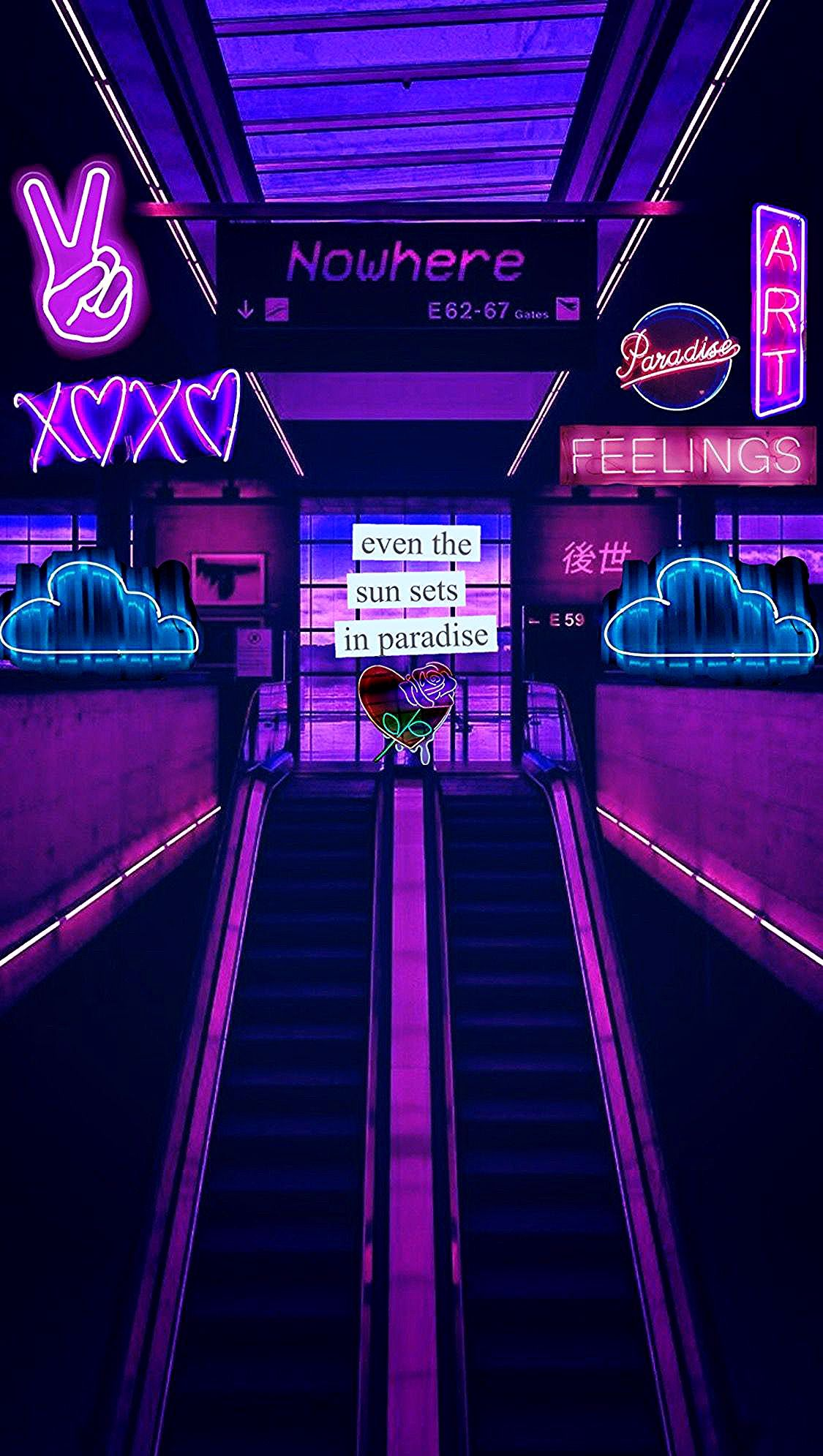 @ᴠᴀʟғɪᴇɴ in 2020 (With images) | Neon wallpaper, Aesthetic ...