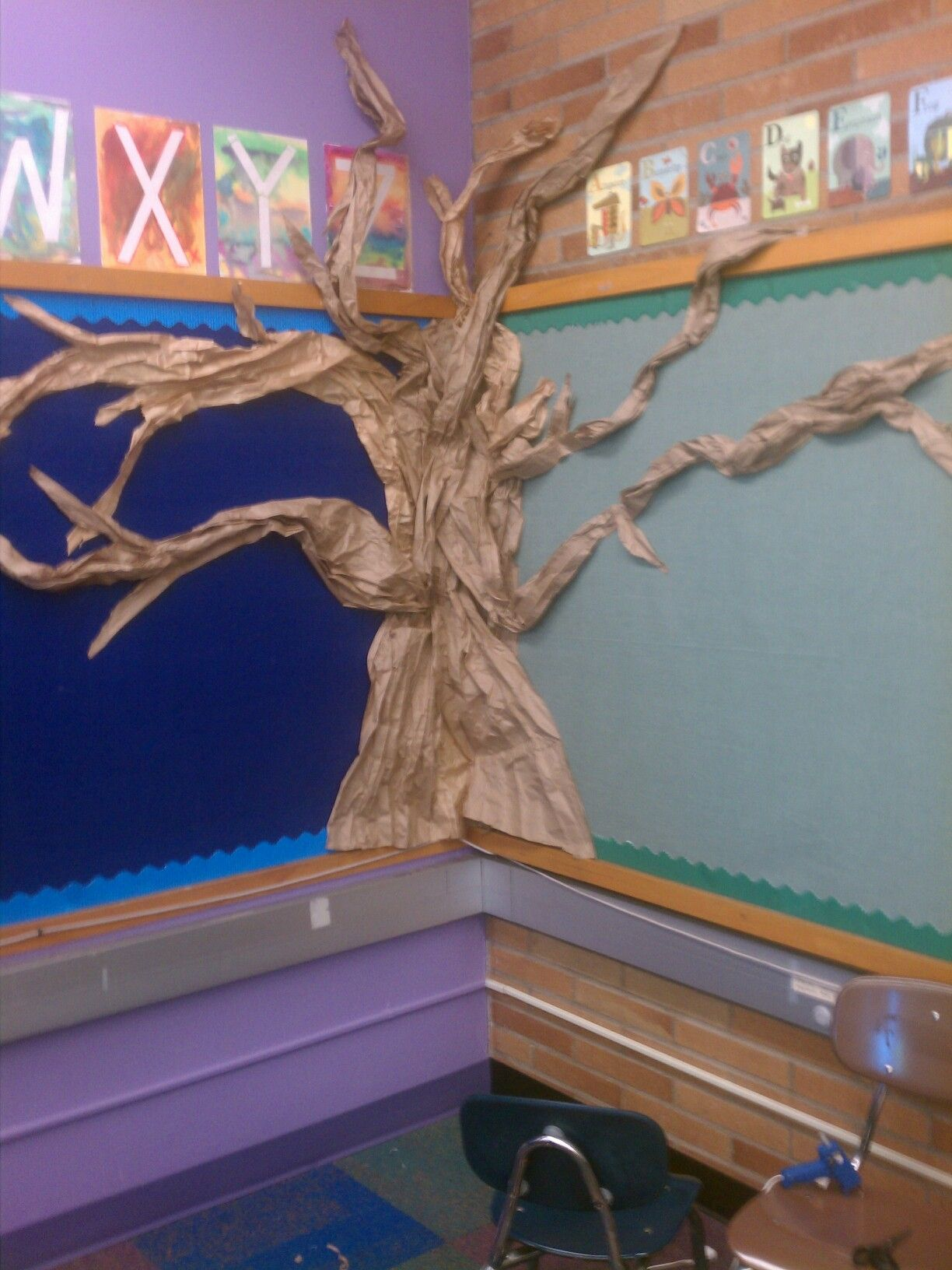 Made A Tree Out Of Paper For My Moms Class Paper Tree Classroom Weird Animals Vbs 2014 Weird Animals Vbs