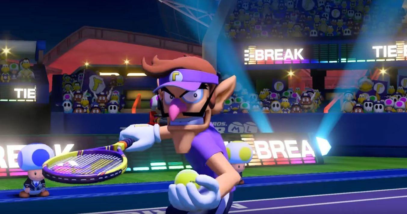 Waluigi in Mario Tennis Aces Tennis, Mario, Super mario bros