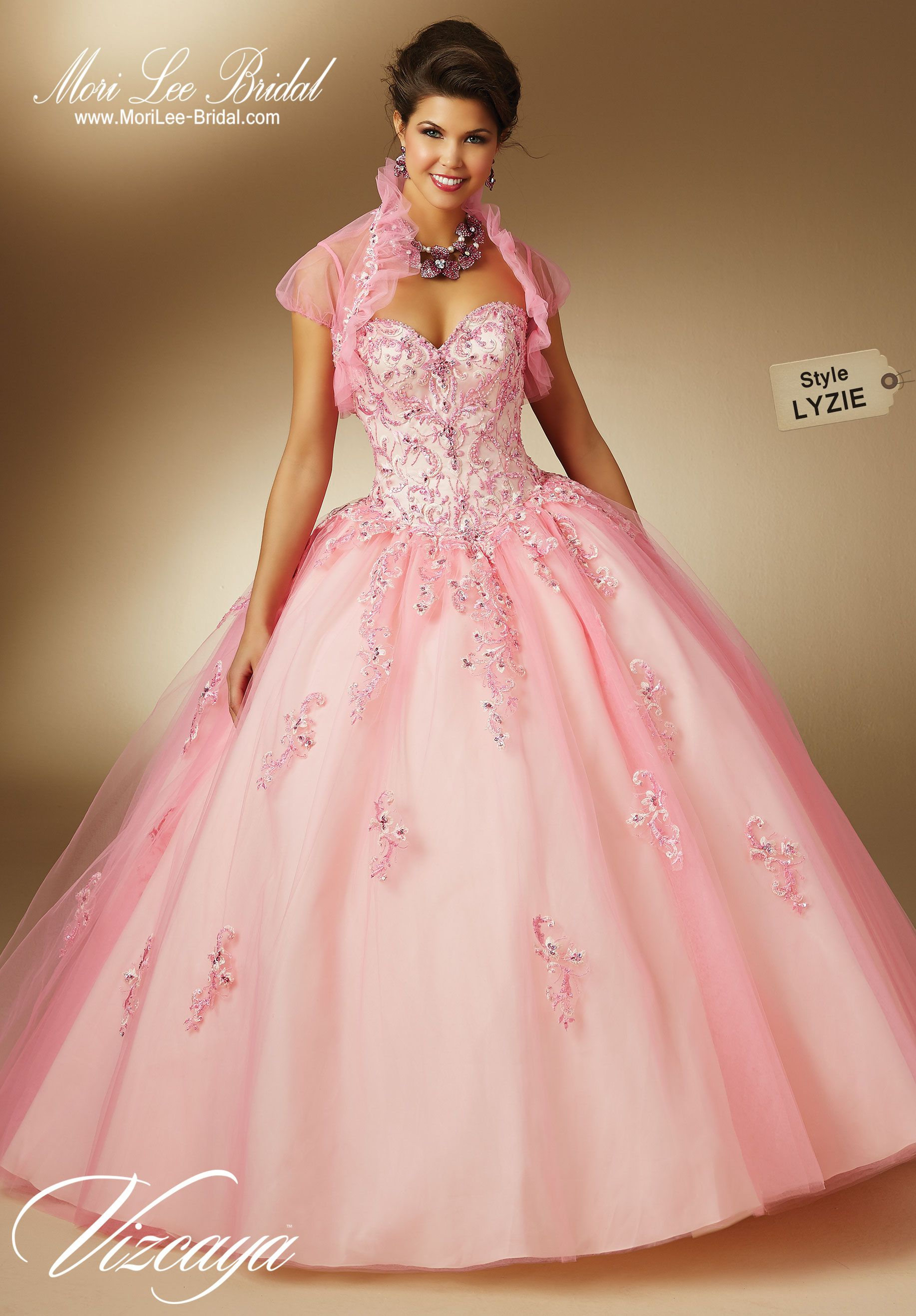Style LYZIE TWO-TONE EMBROIDERY AND BEADING ON TULLE. Matching ...