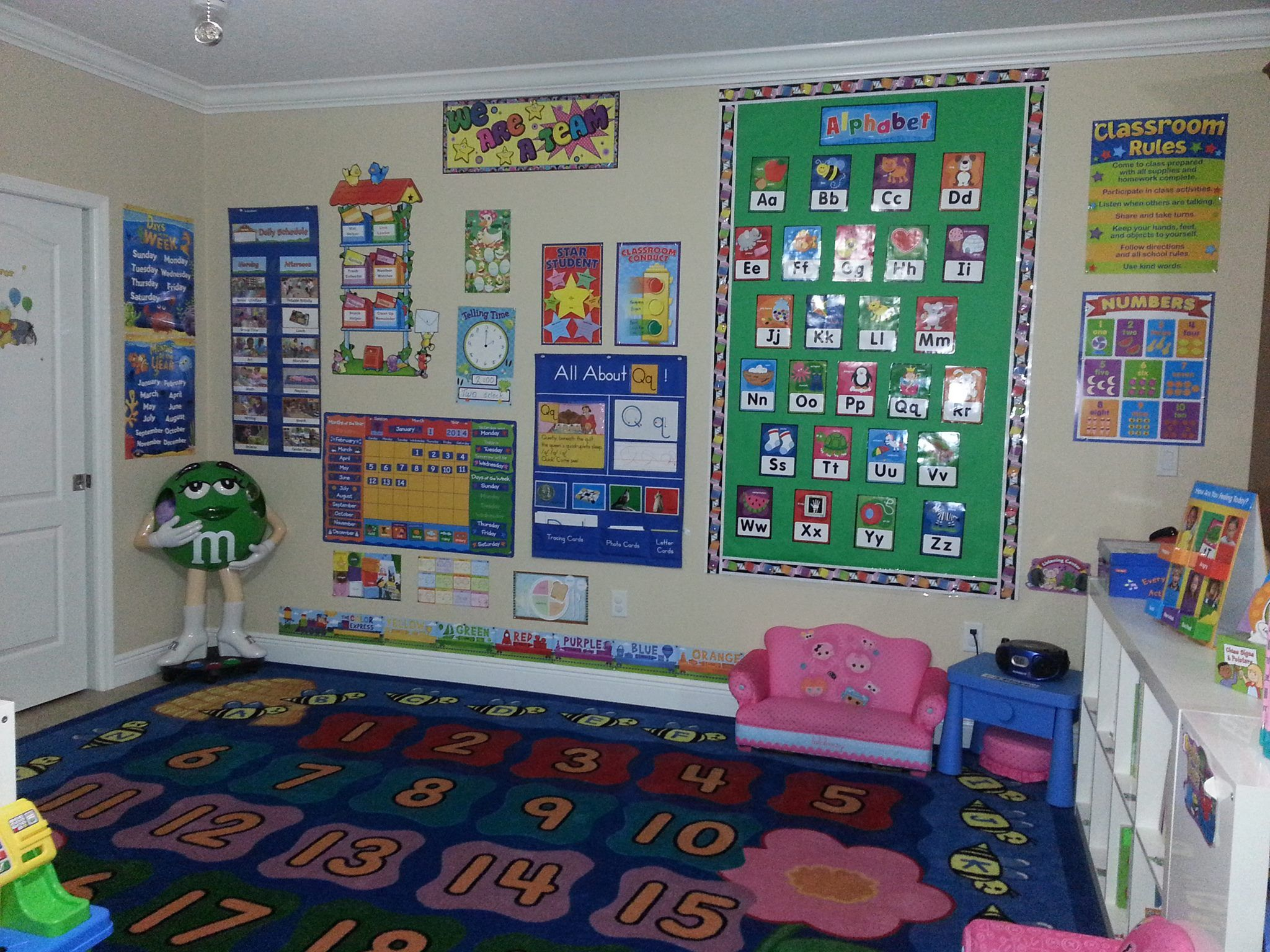 This Is Our Circle Time Area