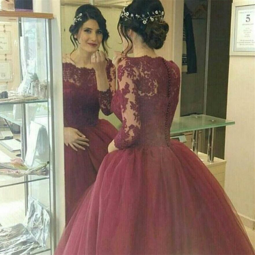 Burgundy Wedding Dresses Quality Lace Dress Directly From China Arabic