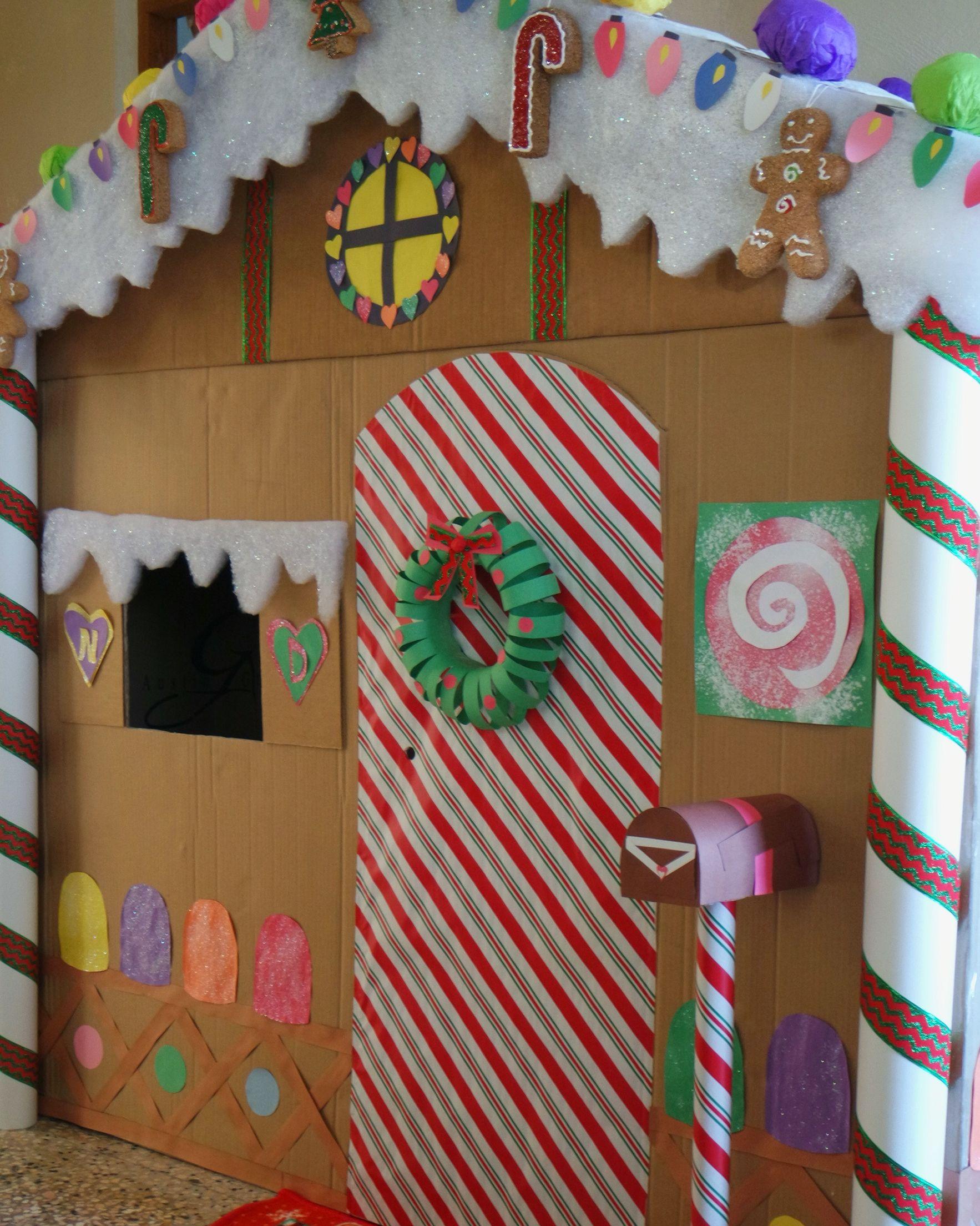 Giant Gingerbread House Using Cardboard