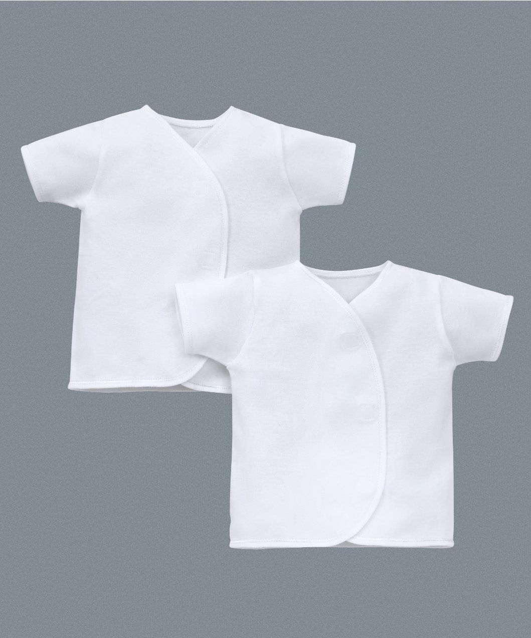Mothercare My First Short Sleeve Wrap Vests 2 Pack Vests