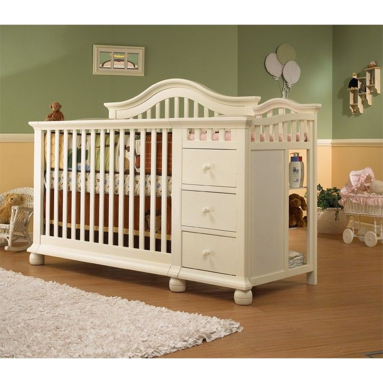 Sorelle Cape Cod 4 in 1 Crib and Changer in French White | baby room ...