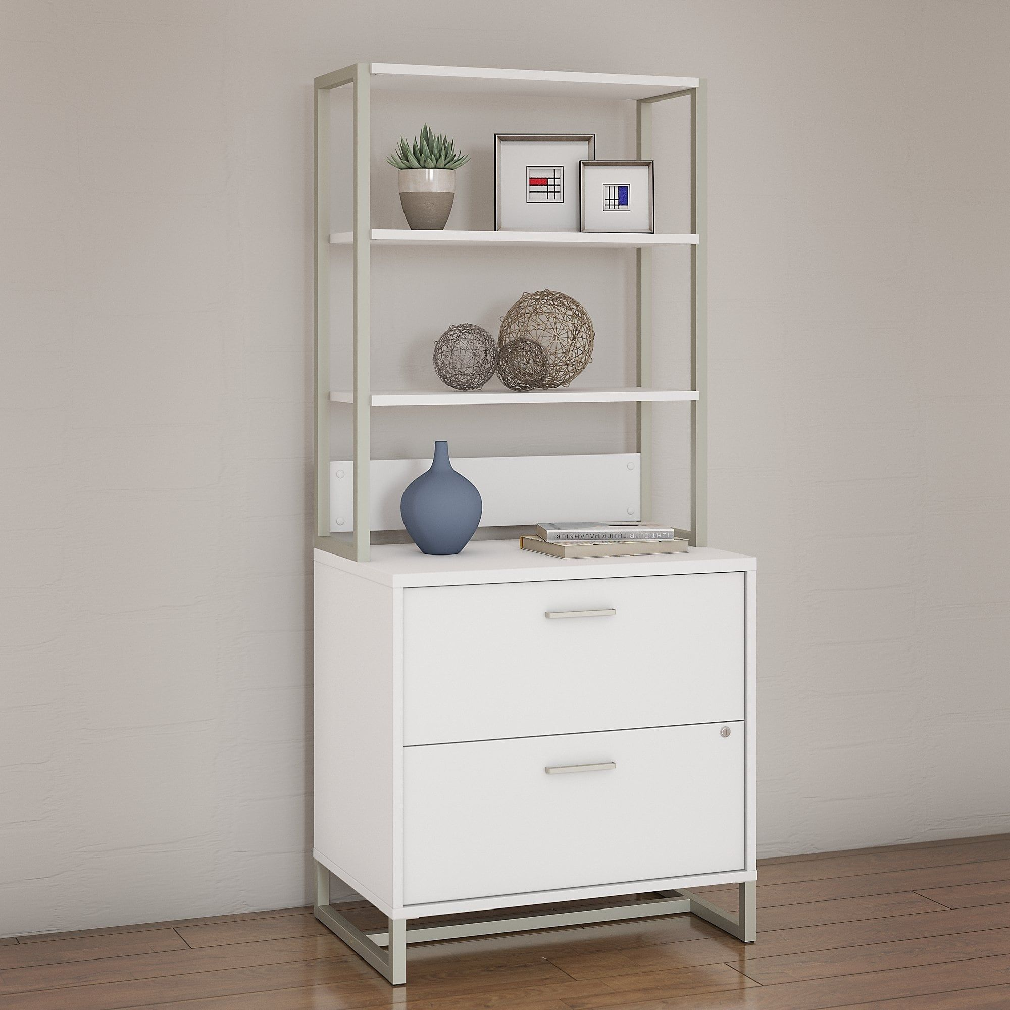 Amazing Bush Industries Office By Kathy Ireland Method Lateral File Cabinet With  Hutch, White, Size