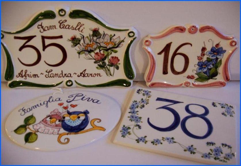 Numeri Civici In Ceramica.Numeri Civici Ceramiche Artistiche Arjila Targhe
