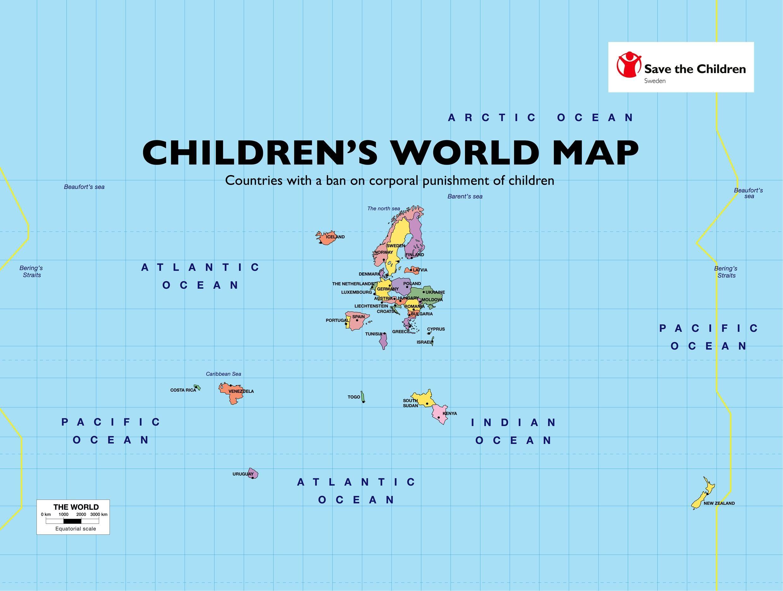 children u0026 39 s world map pays ayant une loi interdisant les punitions corporelles sur les enfants
