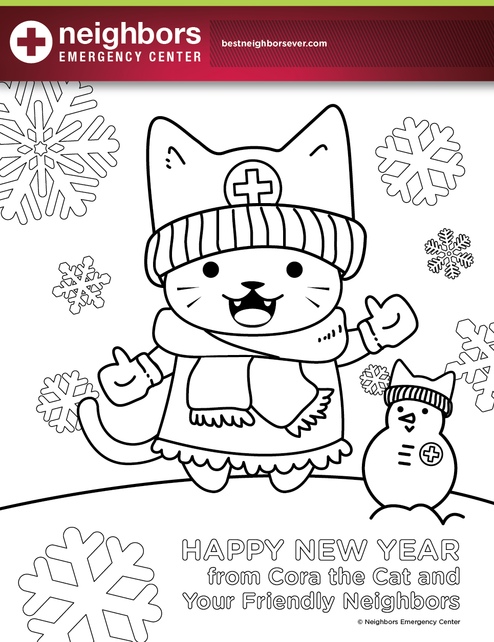 Best Neighbors Ever January Coloring Page! www.nec24.com | Healthy ...