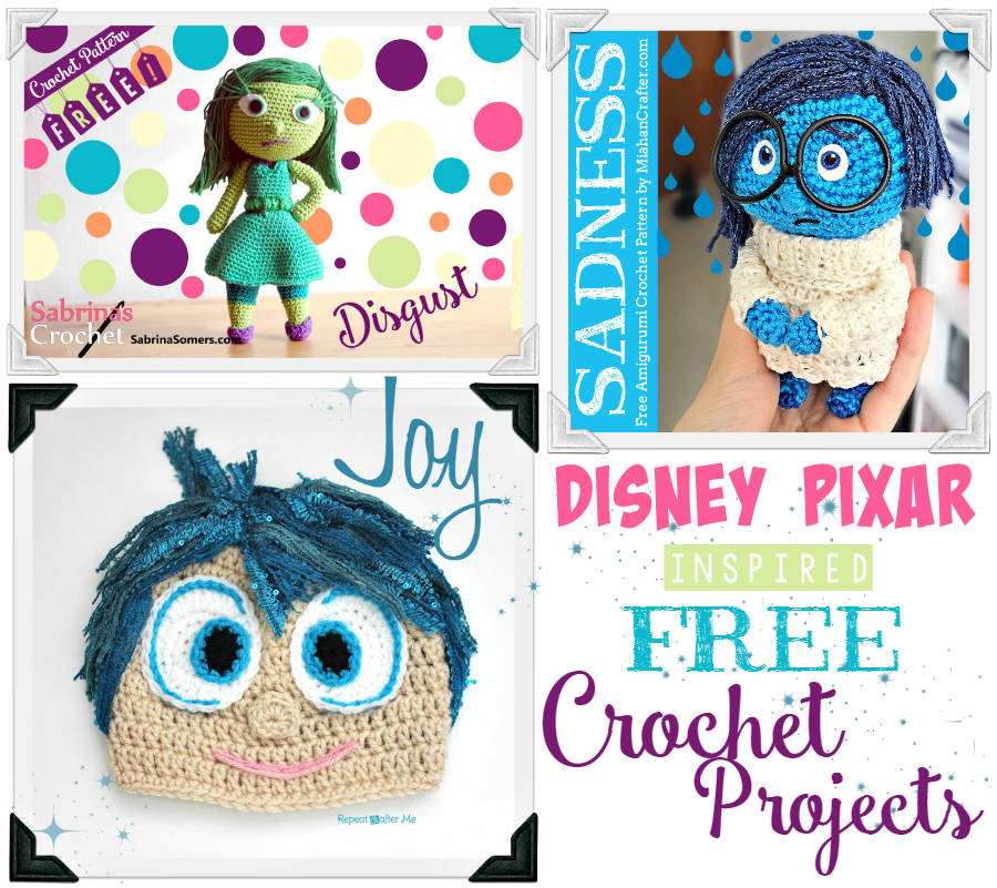 FREE INSIDE OUT Movie Crochet Patterns - Joy and Disgust | Del revés ...