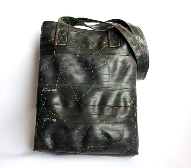Recycled Inner Tube Shopping Bag  by Morgana Crea
