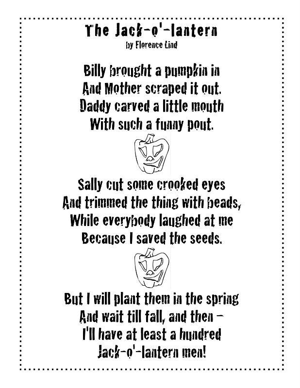Just 4 Teachers Sharing Across Borders Pumpkin Poem And
