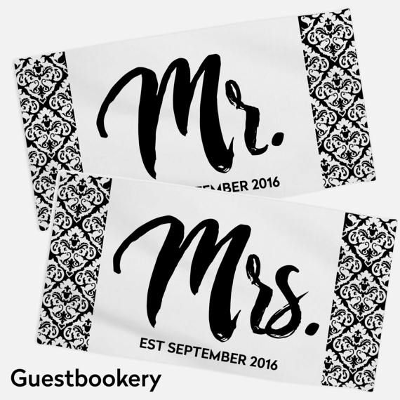 Mr And Mrs Towels Mr And Mrs Towel Set Honeymoon By Guestbookery