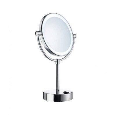 smedbo outline kosmetikspiegel mit led beleuchtung dual licht fk474e spiegel spiegel. Black Bedroom Furniture Sets. Home Design Ideas