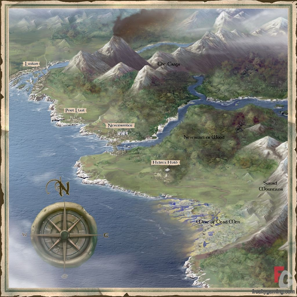 Neverwinter Map Google Search With Images Fantasy World Map