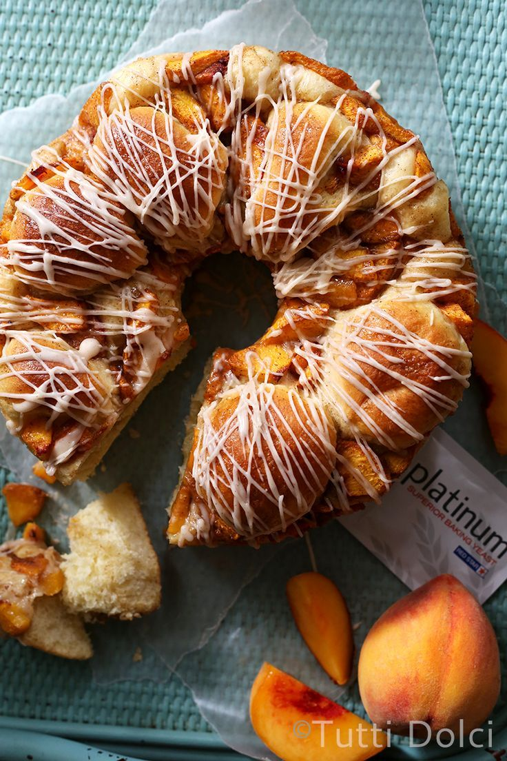 Peach Pull-Apart Bread from /tuttidolci/