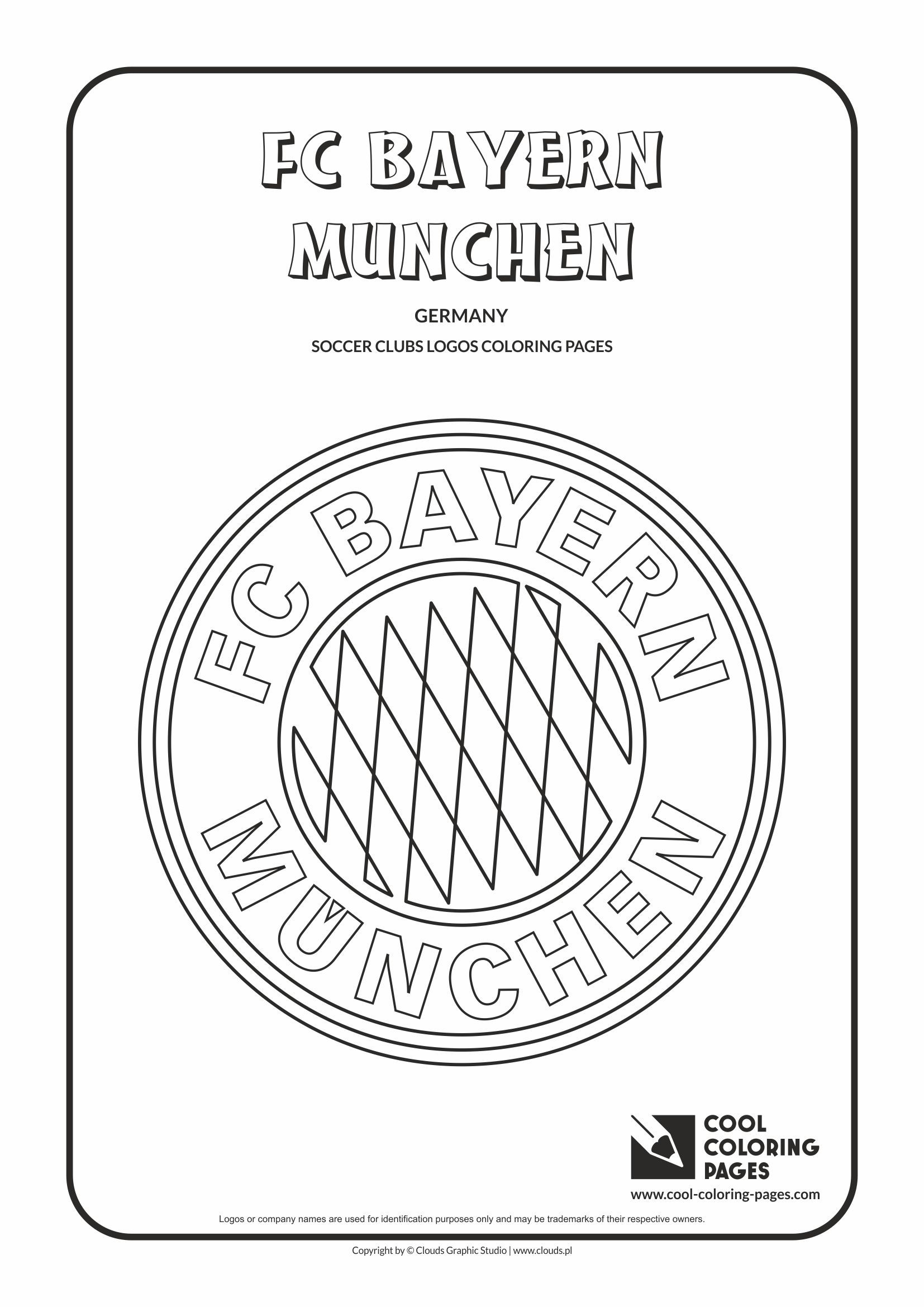 cool coloring pages soccer club logos fc bayern munchen logo coloring page with fc bayern. Black Bedroom Furniture Sets. Home Design Ideas