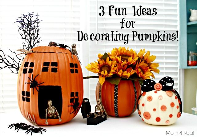 10 No Carve Pumpkin Ideas - Primp Your Pumpkin 2 Features Foam - halloween pumpkin decorations