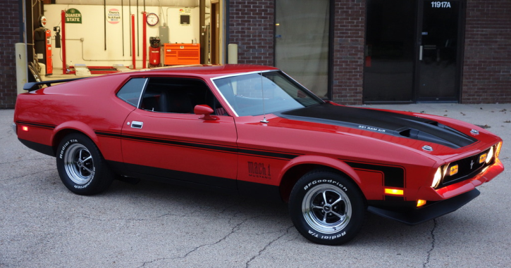 Bright Red 1971 Mustang Mach 1 Show Winner Review 1971 Mustang Mach 1 Mustang Mach 1 Mustang