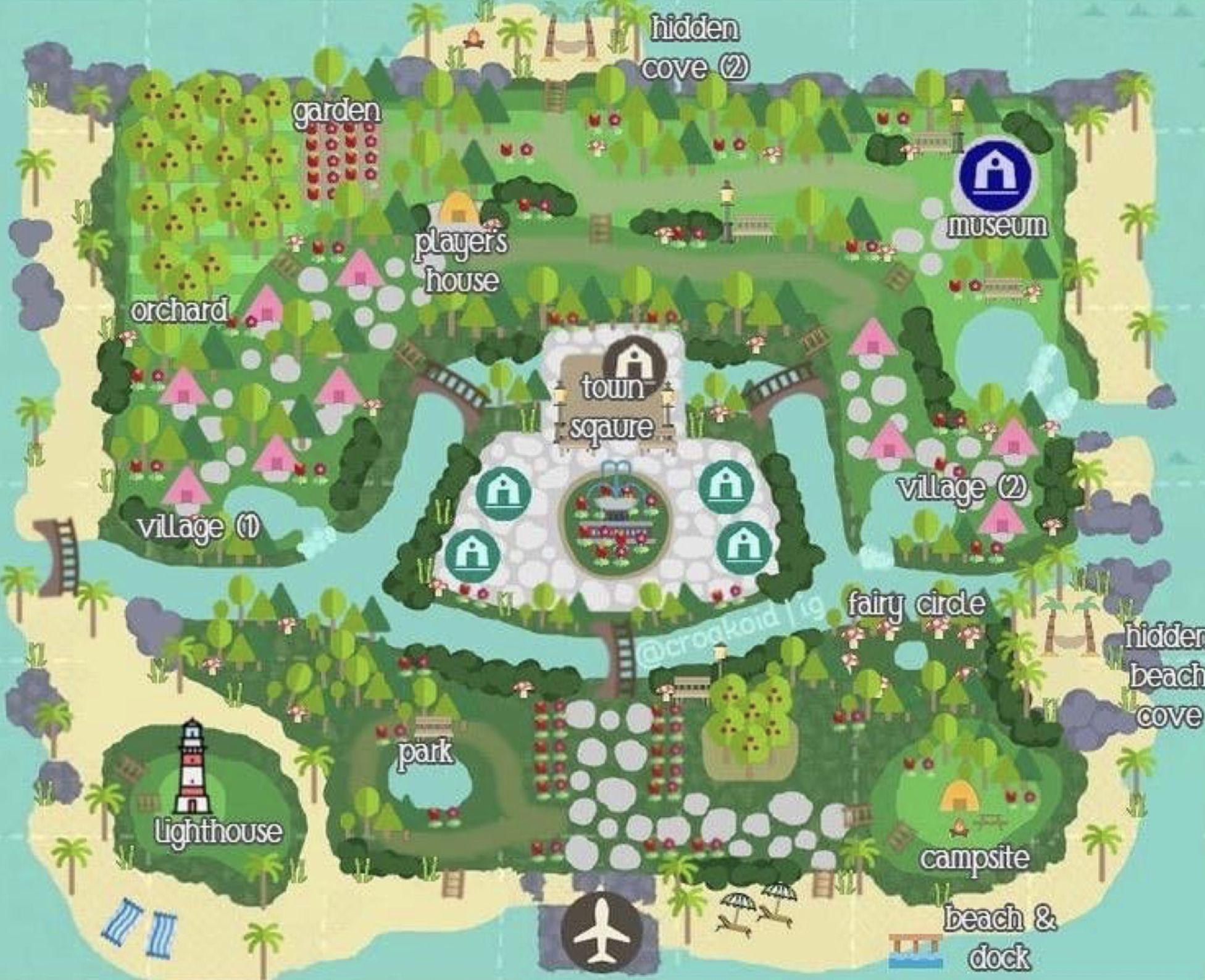 Animal Crossing New Horizons Map Design Ideas Crossingcharm In
