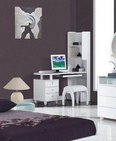 Global Furniture Kids Desk Stool Gl Emily Wh Dsk