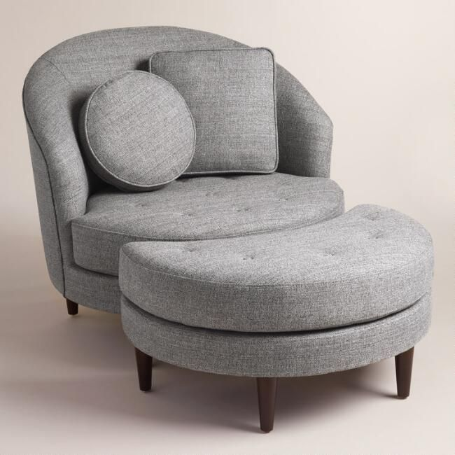 gray seren round seating collection living room furniture furniture
