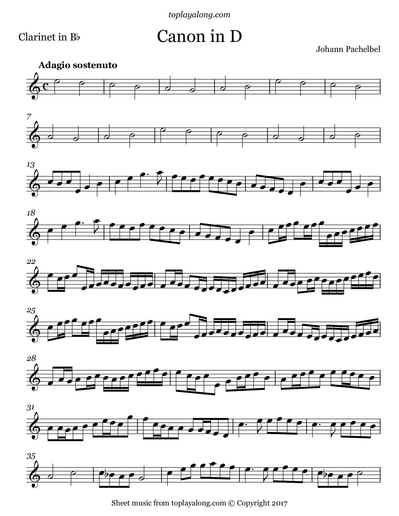 canon in d pdf violin 2