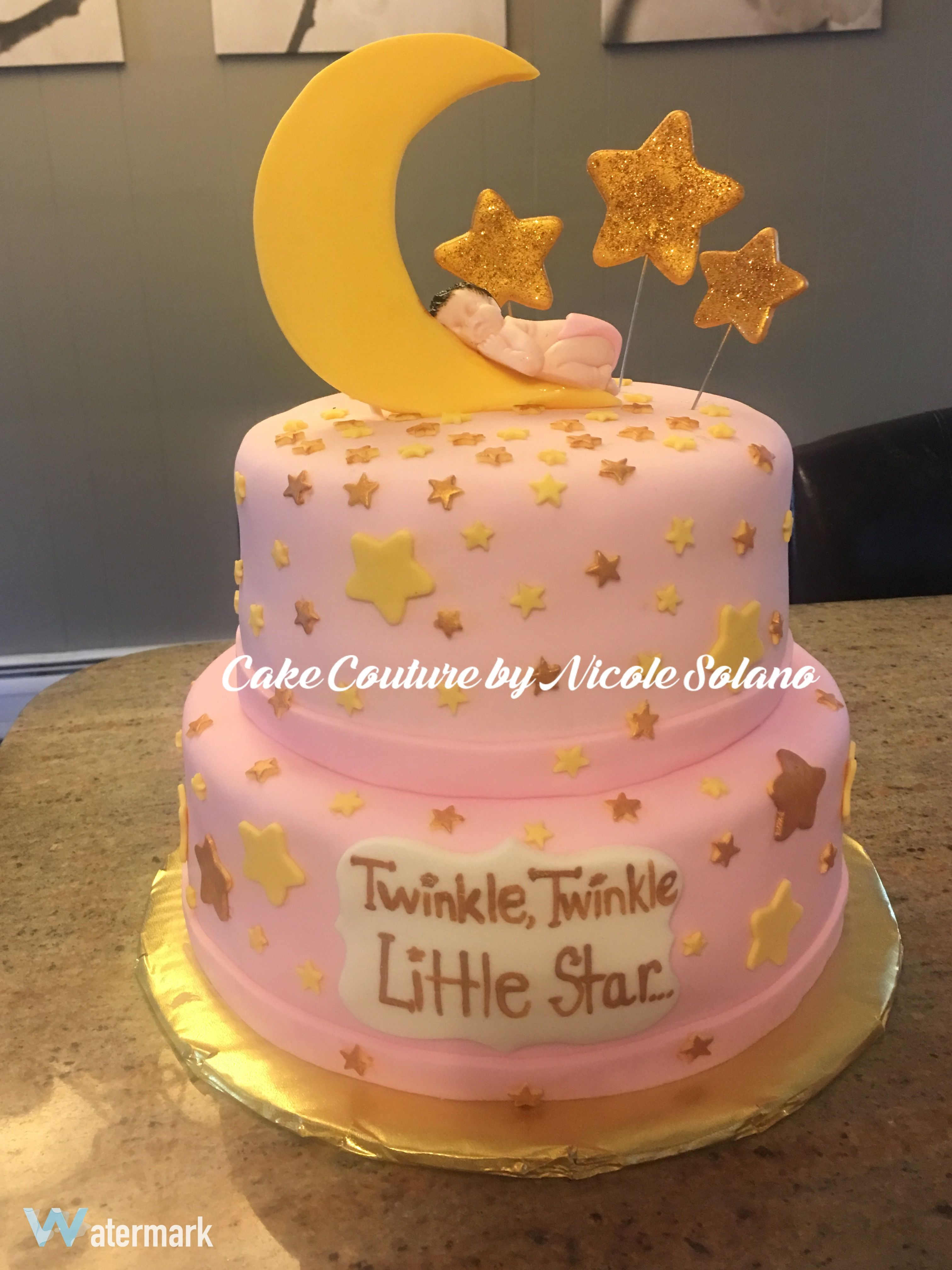 Twinkle Twinkle Little Star Baby Shower Cake With Images Baby