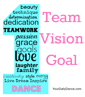 One Team, One Vision, One Goal | Dance team gifts, Dance ...