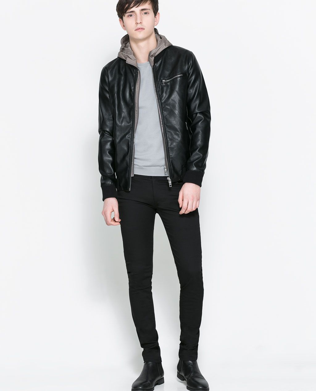 04bccb50 ZARA - MAN - FAUX LEATHER HOODED JACKET | Wear this Summer in 2019 ...