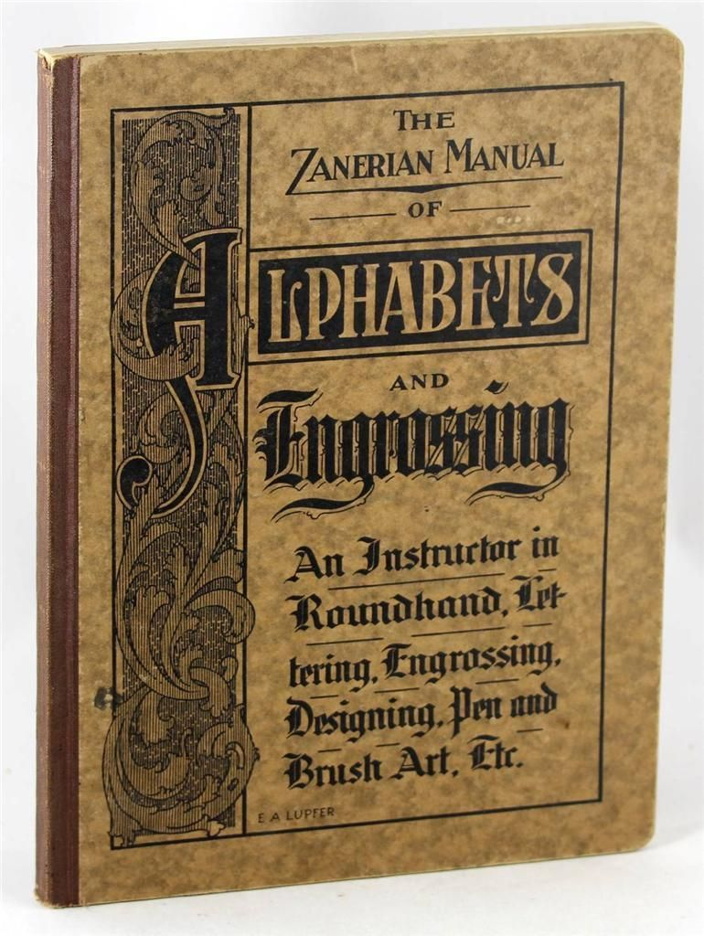 1924 zanerian manual of alphabets engrossing copperplate lettering rh pinterest com ASL Manual Alphabet Letters American Manual Alphabet