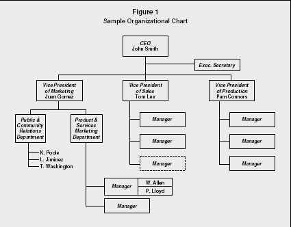 Figure 1 Sample Organizational Chart Novel notes Pinterest Chart - examples of t charts