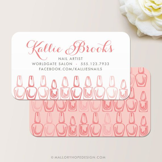Manicurist Business Card Instant Download Printable Calling Card