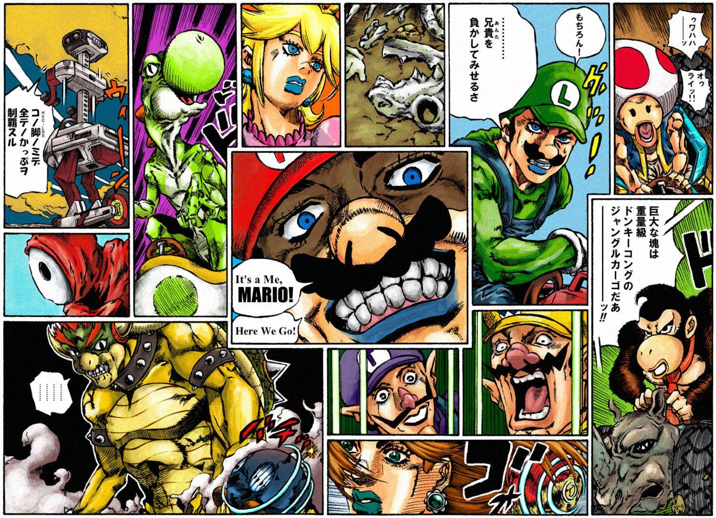 Mario's Bizarre Adventure Steel Kart Run Jojo bizzare