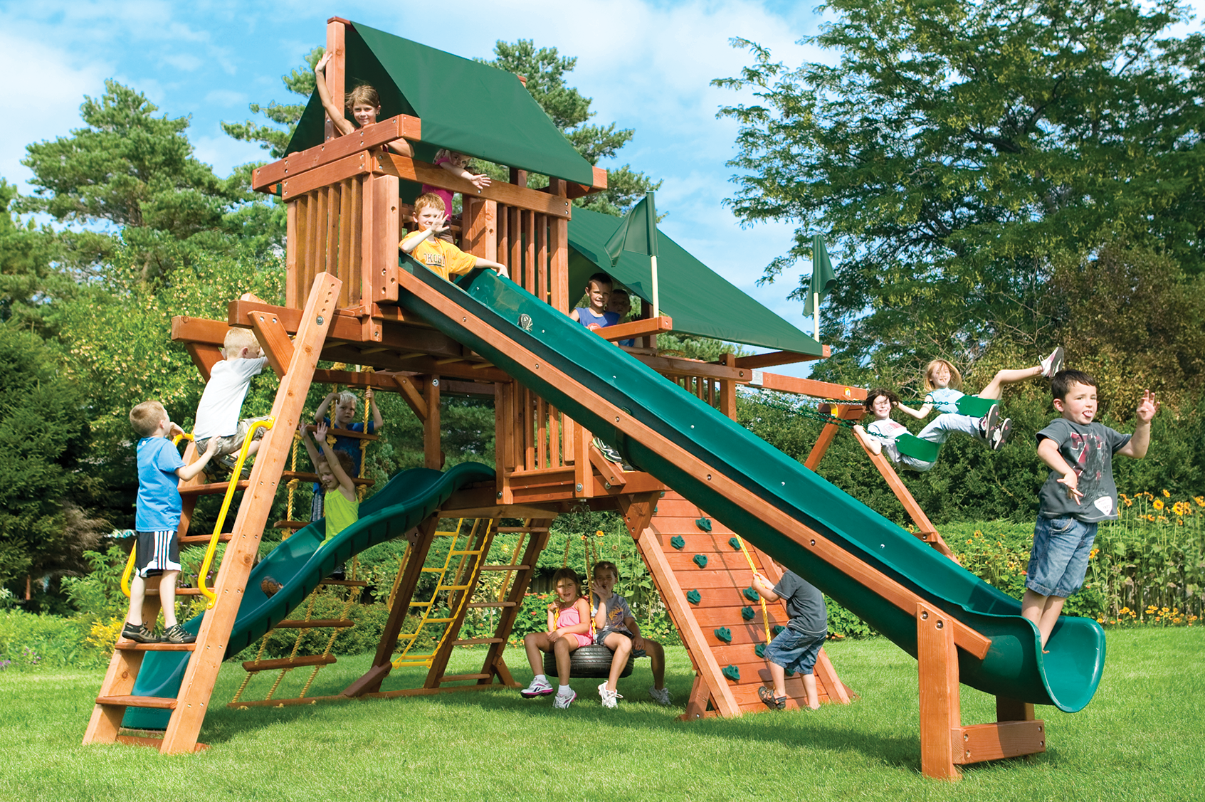 sunshine castles swing sets package 4 rainbow play systems
