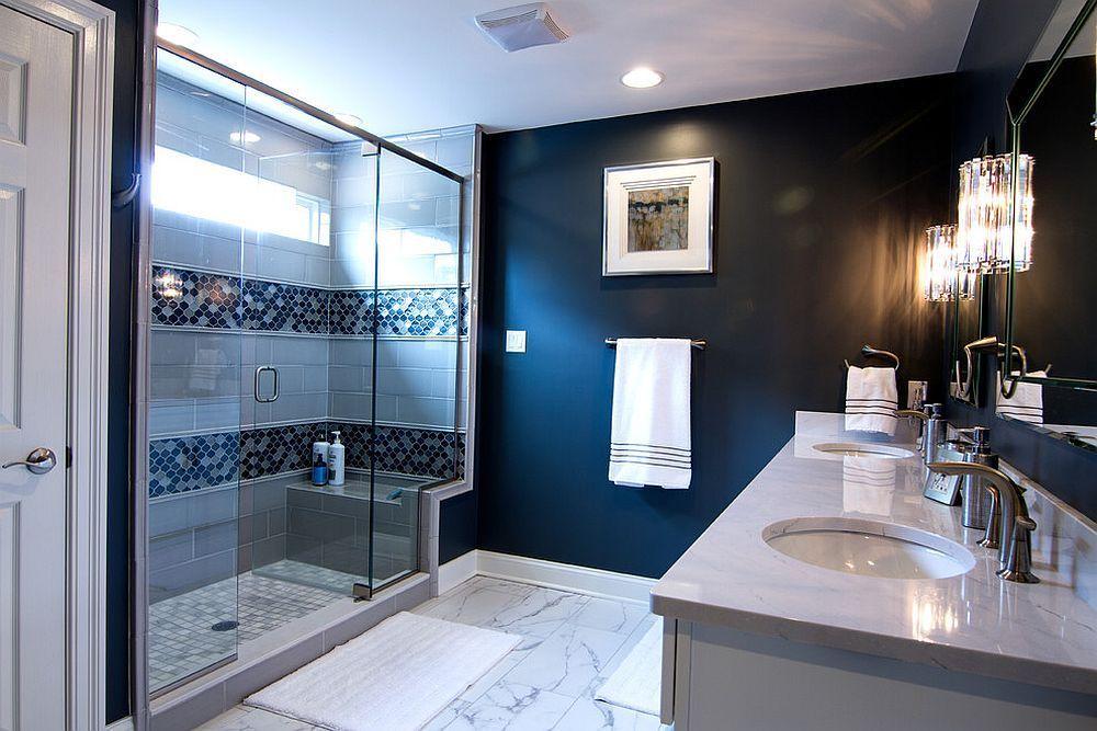 19+ Best Modern Bathroom Design Ideas - Best Home Ideas And Inspiration | Blue Bathroom Decor, Navy Blue Bathroom Decor, Bathroom Design