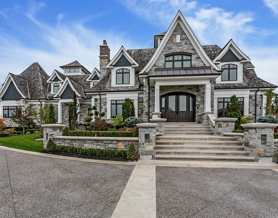 Gorgeous Stone Home In Canada Built By Bachly Construction Canada Homes Mansion Mansions Luxury Luxury Homes Dream Houses Dream Home Design Stone Houses