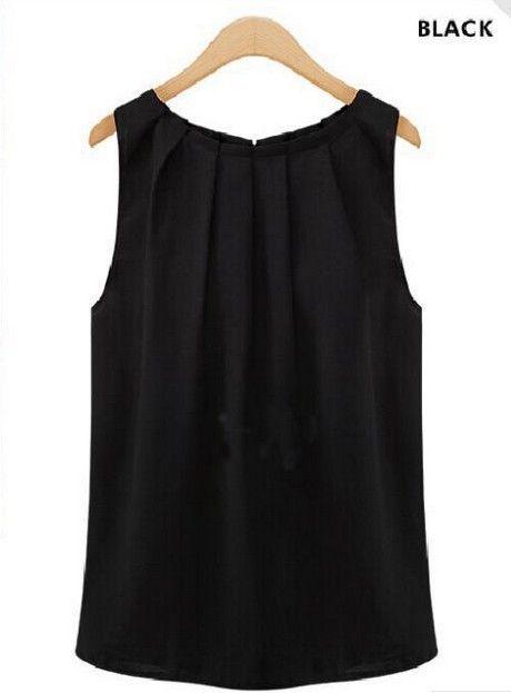 f15e133215 Plus Size 2015 Blusas Women Blouses Roupas Femininas Tropical Sexy Fold  Sleeveless Chiffon Ladies Blouses Casual Tops Clothing