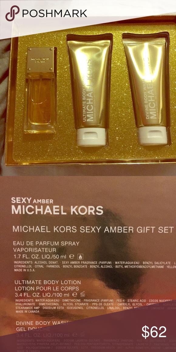 Michael kors perfume set sexy amber