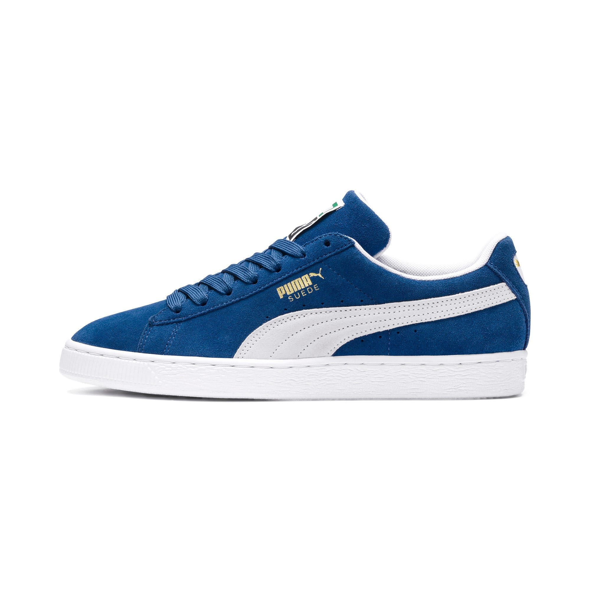 Photo of Men's PUMA Suede Classic+ Trainers, Olympian Blue/White, size 9.5, Shoes