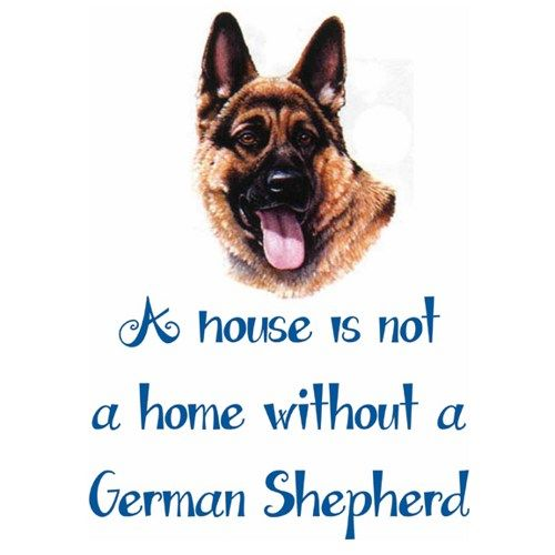 Dog Breed Plaque, German Shepherd, Personalized With Petu0027s Name